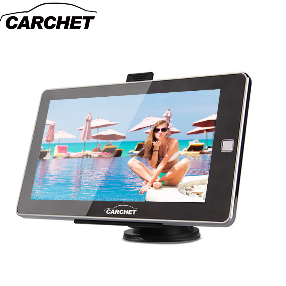 CARCHET Car GPS 7inch Touch Screen GPS Navigation FM 128MB 8GB with Western Europe Map Russia Austria Italy Germany France aw715 7 0 inch resistive screen mt3351 128mb 4gb car gps navigation fm ebook multimedia bluetooth av europe map