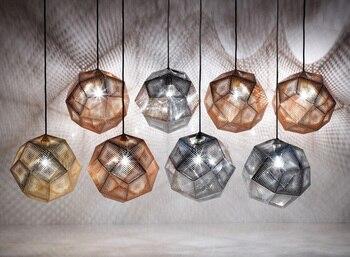 Nordic Geometry Box Bric  Pendant Lights Balcony Dining Room Living Room Modern Simplicity Stair Hanger Lamp Fixture