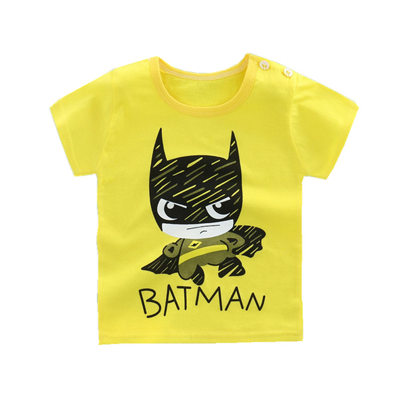 2017 baby cartoon printing clothes baby boy cotton t shirt for T shirt printing for babies