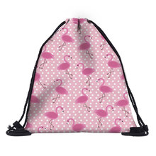 Polyester pink Drawstring Bag Women Travel Makeup Case Cosmetics Shoes Cloth Storage Case Organizer Bags Christmas Gift