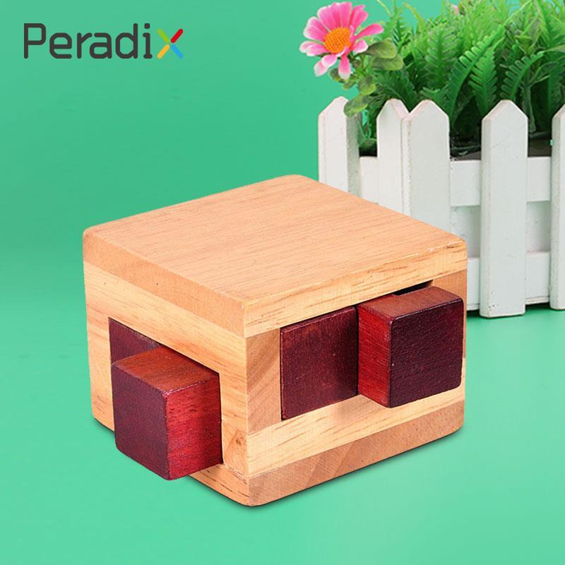 Деревянный коричневый Конг Мин Блокировка головоломки интеллектуальной Развивающие игрушки для детей