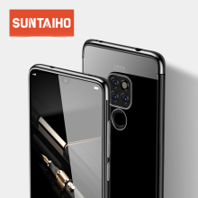 Suntaiho Case for Huawei P20 Lite Case  Luxury Transparent TPU Silicone Plating Shining Cover for Huawei Mate 20 lite 20X Case