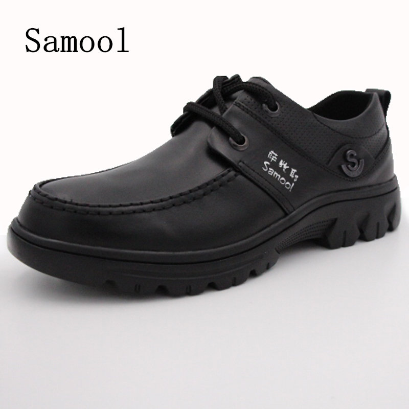 Autumn Winter Genuine Leather Men Business Casual Shoes Handmade Moccasins Shoes Men High-quality Lace Up Shoes Big Size 38-49 new 2017 autumn men leather shoes fashion design weave pattern handmade men casual leather shoes size 38 44