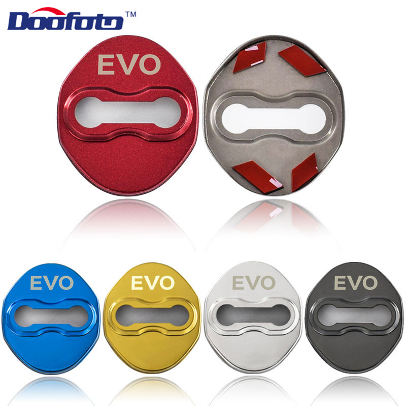 Doofoto Stainless Steel Emblems Sticker Car Styling Fit For Mitsubishi EVO Carisma L200 Galant Auto Protection Cover Accessories