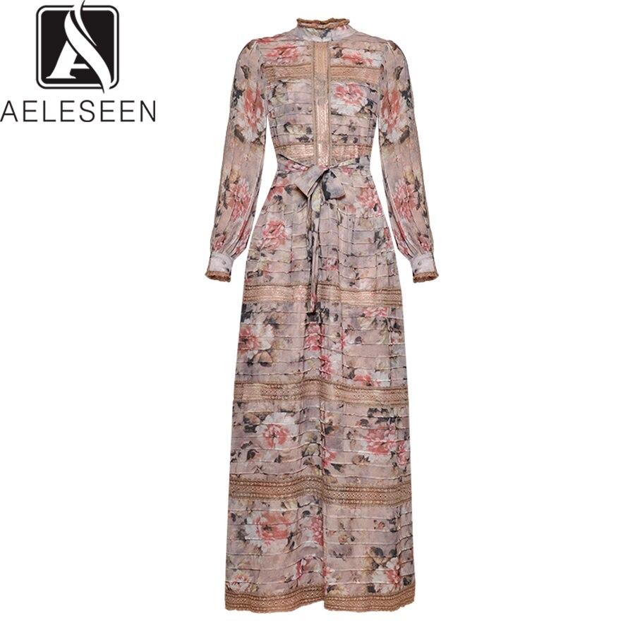 שמלה AELESEEN Printted נשים