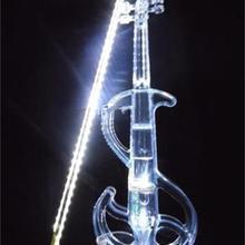 Кристалл акриловая скрипка Белый S Led электронная скрипка электро-акустическая скрипка 4/4