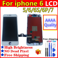 Black/White Assembly LCD Display Digitizer for iPhone 6s AAA Quality LCD Touch Screen for iPhone 6 7 5 6 plus  No Dead Pixel 10 pcs lot aaa 100% no dead pixel for iphone 6 lcd display touch screen digitizer assembly replacement black or white free dhl