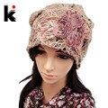 Encepado bolsillo resorte femenino y el otoño de encaje fino de malla recorte sombrero mes de cap turbante puntera sombrero que cubre