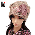 Pile cap female spring and autumn lace thin pocket cutout mesh hat month of cap toe cap turban hat covering