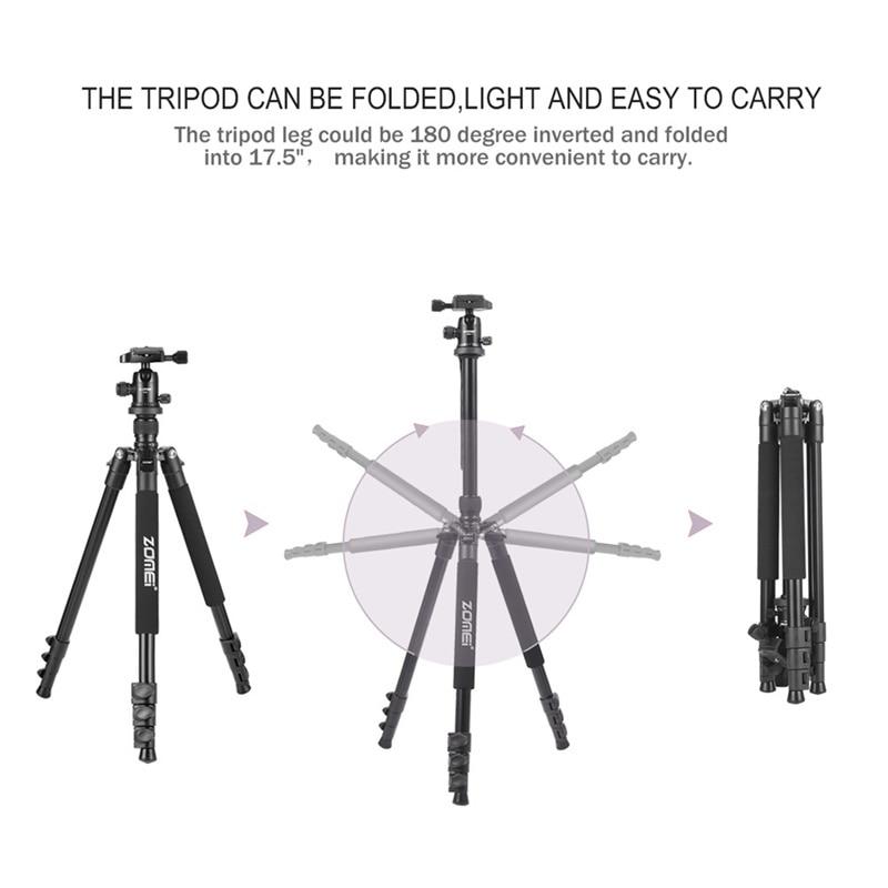 ZOMEI Q555 Camera Tripod Professional Alluminum Stand -5
