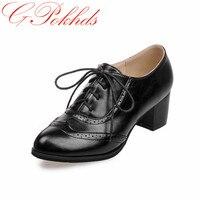 GPokhds Grande taille 33-45 haute qualité vente chaude 2017 nouveau style femmes casual noir couleur découpes lacent richelieus chaussures appartements chaussures