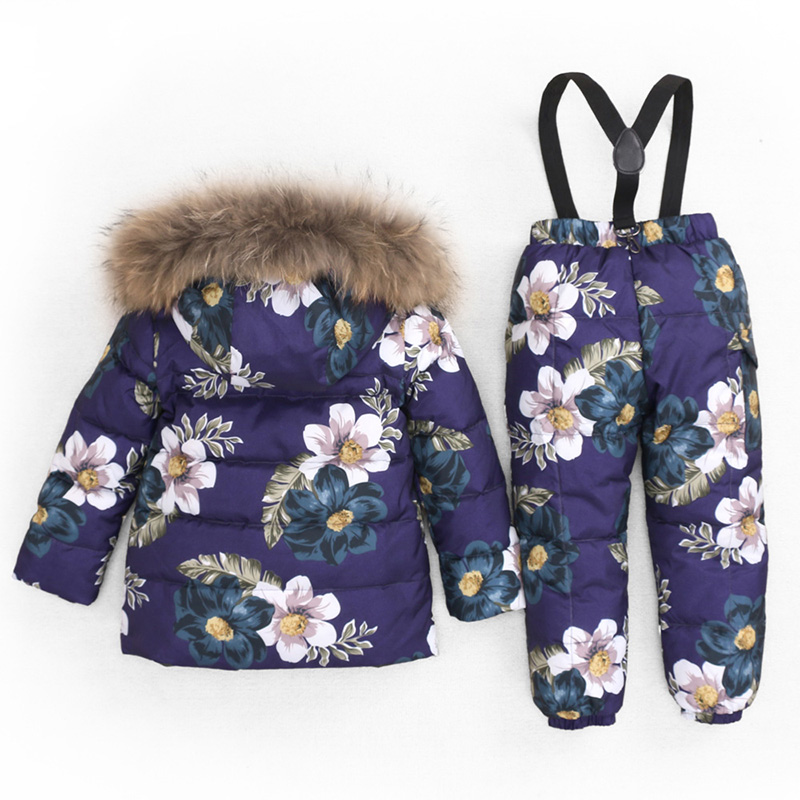 KABULANDY Children Down Jacket Set Girl Boy Winter Coat Pants 2Pcs Thick Kids Ski Suit Warm Clothes set For Children 2-8 Years the children down jacket winter suit pants can open a boy girl down jacket girl down jacket girl boy jacket girls winter coat