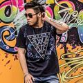 Algodón t shirt men size 2XL-7XL camiseta homme hombres de la camiseta 2016 nueva personalidad verano sello tee TOPS
