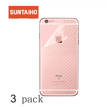 [3-Pack] Suntaiho Anti-fingerprint 3D Screen Protector for iPhone XS MAX 6splus 7 plus XR Carbon Fiber Rear Back Protective film