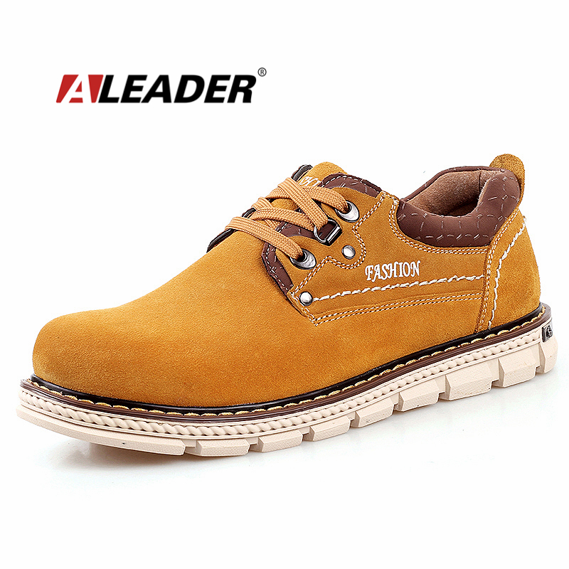 Autumn Suede Leather Men Shoes New 2015 Fashion Oxford Shoes Men Lace Up Ourdoor Work Shoes