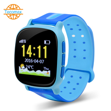 Cut child smart watch IP54 cartoon watch gps tracker watch SOS alarm button font b smartwatch
