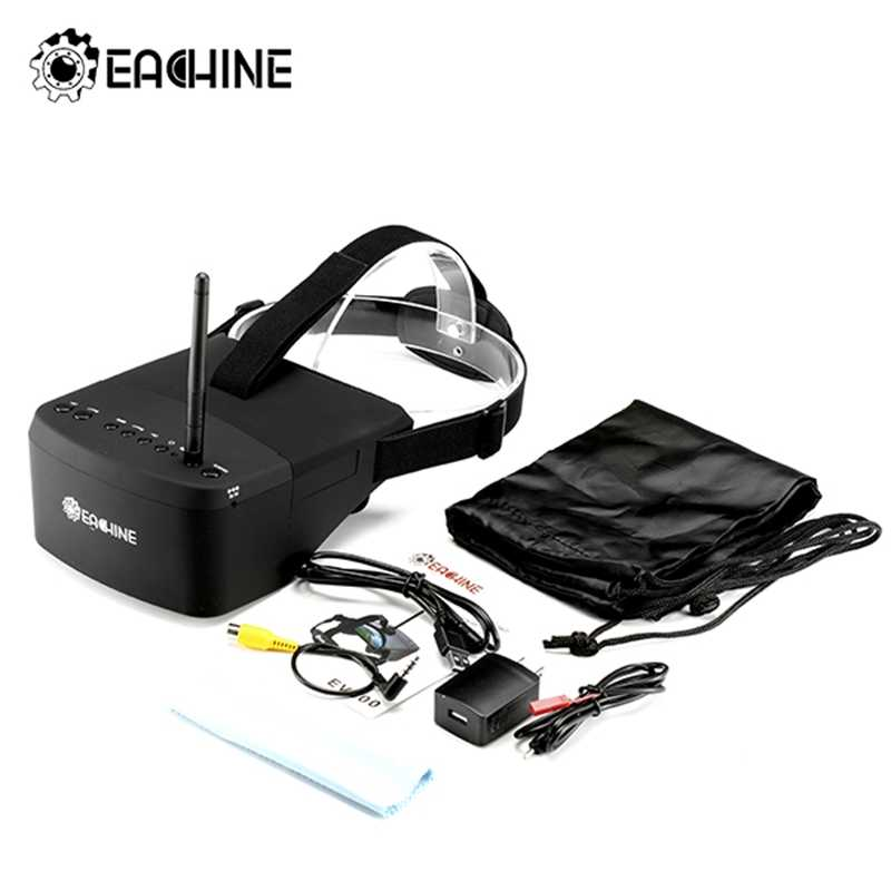 (In Stock)New Arrival Eachine EV800 5 Inches 800x480 FPV Goggles 5.8G 40CH Raceband Auto-Searching Build In Battery