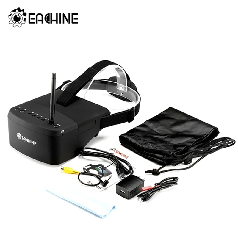 (In Stock)New Arrival Eachine EV800 5 Inches 800x480 FPV Goggles 5.8G 40CH Raceband Auto-Searching Build In Battery  цена и фото