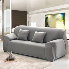 Vlakte Elastische Stretch Sofa Covers Polyester Spandex Stof Arm Couch Sofa Hoes Meubilair Single/Twee/Drie/ four-seater55(China)