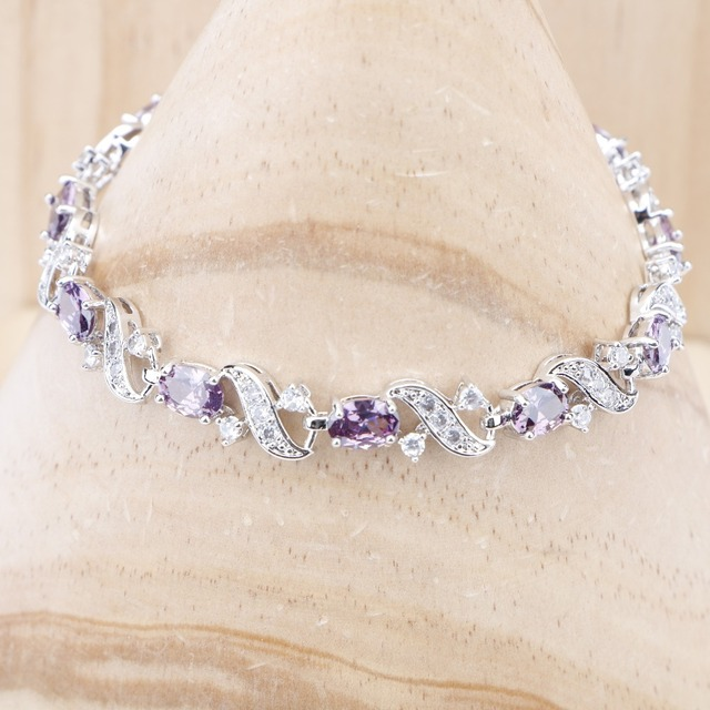 Zirkon Stones Silver 925 smykker armbånd for kvinner