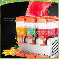 Free shipping 3 tanks cold drink dispenser/slush machine/ Sparying juicer ice beverage dispenser for sale