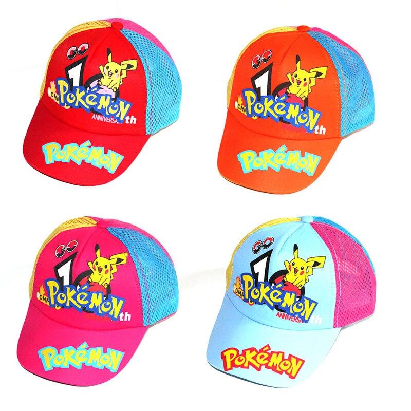 Children Boy Cartoon Baseball Hat Pokemon Pikachu Doraemon Sunscreen Adjustable Baseball Caps For Kids  Four Seasons Applicable