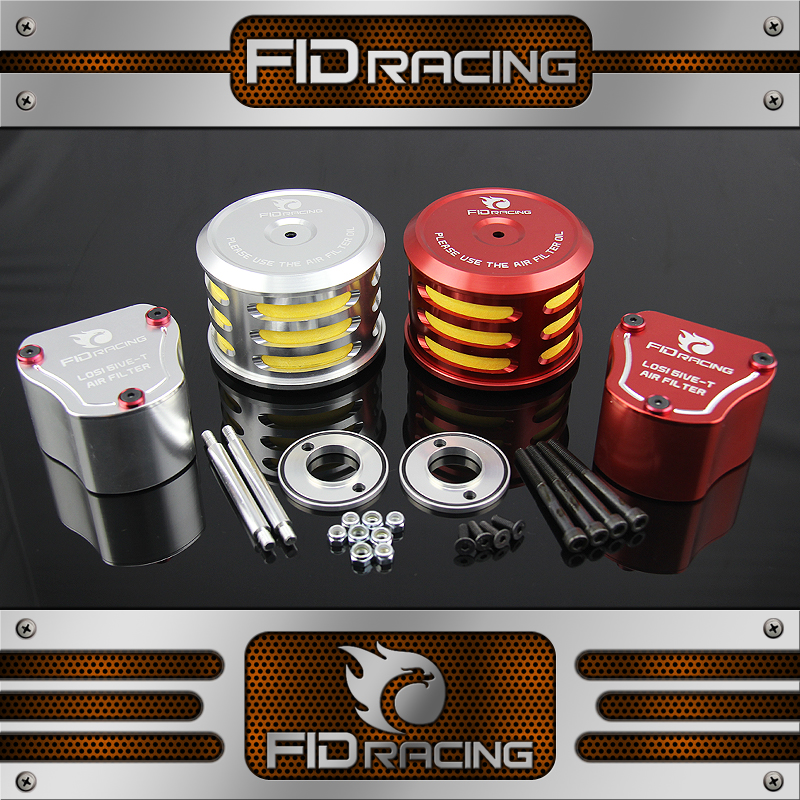FID Rotatable Gas Mask, All-metal Vertical Air Cleaner FOR LOSI 5IVE-T fid the new losi 5ive t front guard board chassis