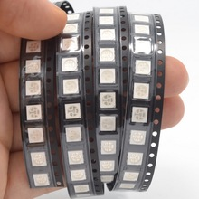 Hot! 500pcs/lot  5050 SMD UV/Purple PLCC-6 3-CHIPS Ultra Bright LED light-emitting diodes High quality wholesale