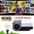 GM50 Mini Portátil LED Proyector de Vídeo 3d Proyector De Videojuegos TV Movie Con Mando a distancia de Apoyo AV/USB/SD/VGA HDMI