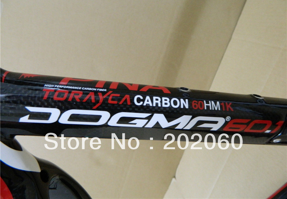 Topselling - Pinarello Dogma 2 black red 60.1 carbon frame+fork+seatpost+clamp+headset road bicycle frameset+sumglasses gift