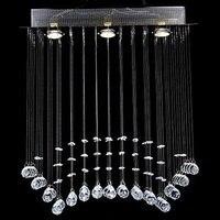 3 Lights Modern LED K9 Crystal Ceiling Lamp For Living Room Bedroom Dining Room Lustre De