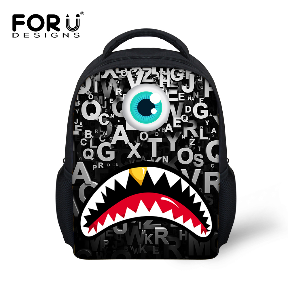 Cool 12 inch Kids School Bags Designer Big Mouth Design Children Bags for  School