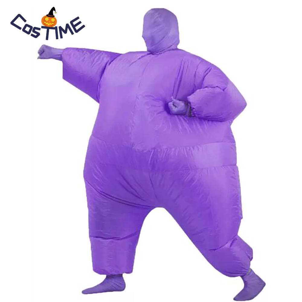 Inflatable Full Body Suit Adult Blow Up Fat Club Suit Funny Inflatable Costume Halloween Party Fancy Dress Second Skin Jumpsuit