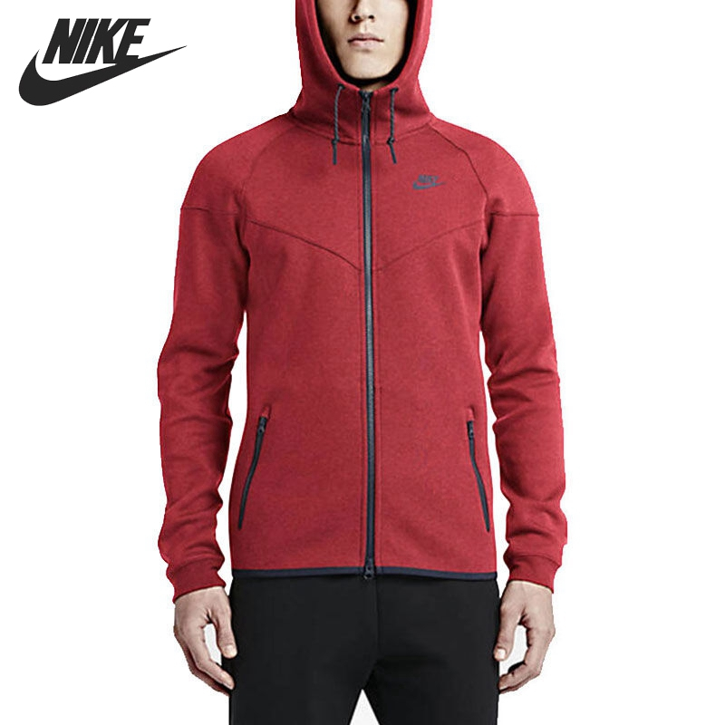 Original New Arrival NIKE Men's Jacket Hooded Sportswear original nike men s black knitted jacket hooded sportswear