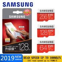 Samsung micro cartão sd 64 gb 128 gb 32 256 gb cartão de memória microsd de c10 u3 4 k/u1 sdxc cartão tf sdhc flash frete grátis