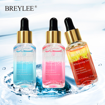 BREYLEE 3PCS Hyaluronic Acid Essential Oils Moisturizer Whitening Essence Face Skin Care Rose Firming Facial Serum