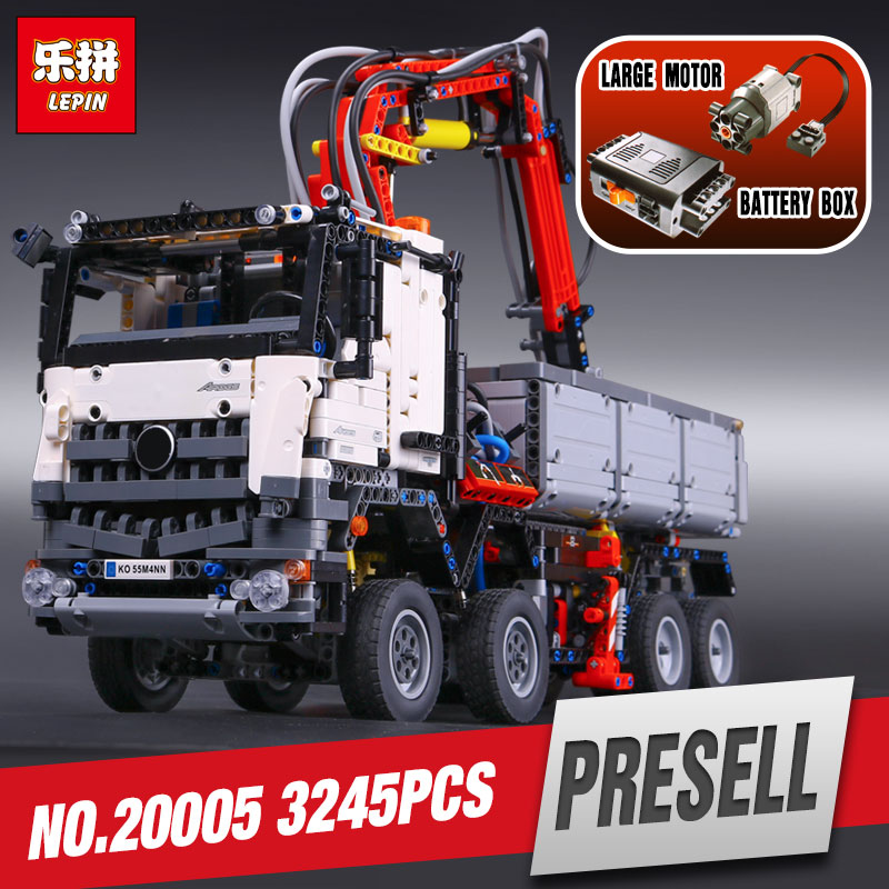 2793pcs NEW LEPIN 20005 technic series  Arocs Model Building blocks Bricks Compatible with Toy for Children 42043 2793pcs technic remote controlled arocs truck 20005 building kit 3d model blocks minifigures toys bricks compatible with lego