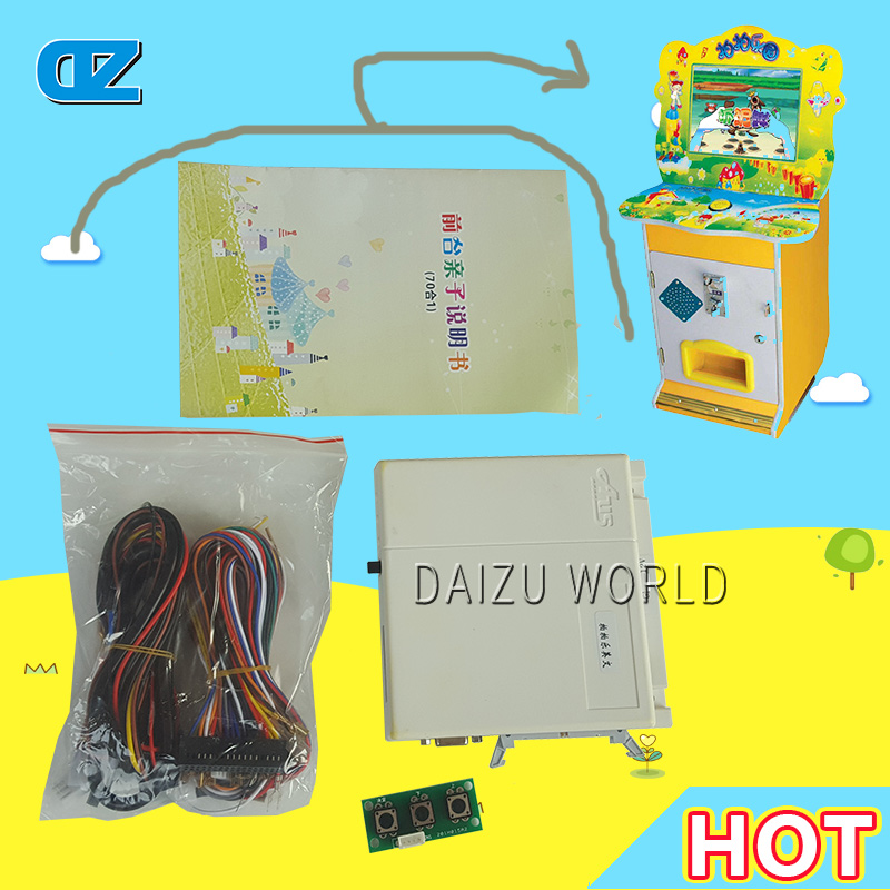 DIY kit 61 In 1 One Touch For Kids Games Arcade Cabine Board, Family Games Multi Pcb , Amusement Kids games Board kits sanwa button and joystick use in video game console with multi games 520 in 1