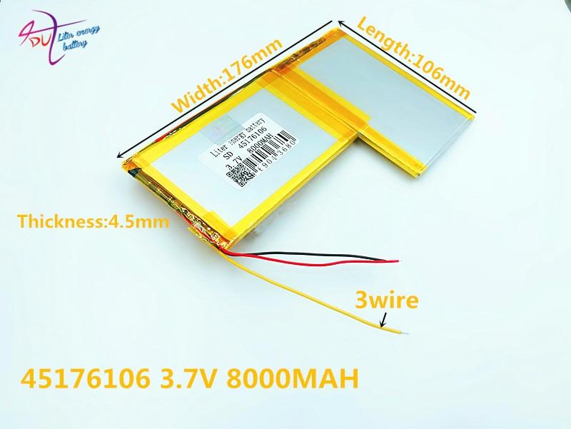 Digital Batterien Ordentlich 3 Linie 3,7 V 8000 Mah 4570106*2 Lithium-polymer-batterie Mit Schutz Bord Für Liter Energie Batterie Seien Sie Im Design Neu