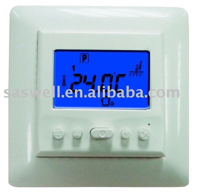 Europe  standard  programmable floor heating room thermostat