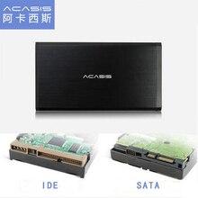 ACASIS BA-06USI USB 2.0 SATA & IDE Interface 3.5 inch Universal HDD Enclosure aluminum alloy SSD Mobile hard disk Box Dual Using