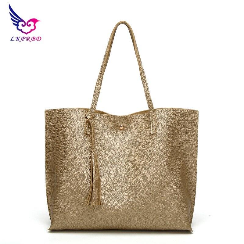 2017 LKPRBD new big luxury brand women shoulder bag soft leather tophandle bag lady tassel handbag high quality ladies handbag
