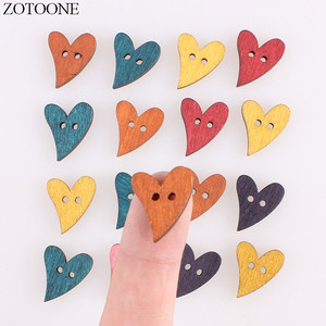ZOTOONE Handmade Wooden Buttons for Crafts Wedding Decoration Clothing Sewing Accessories Supplies Wholesale 50Pcs 100Pcs/Lot