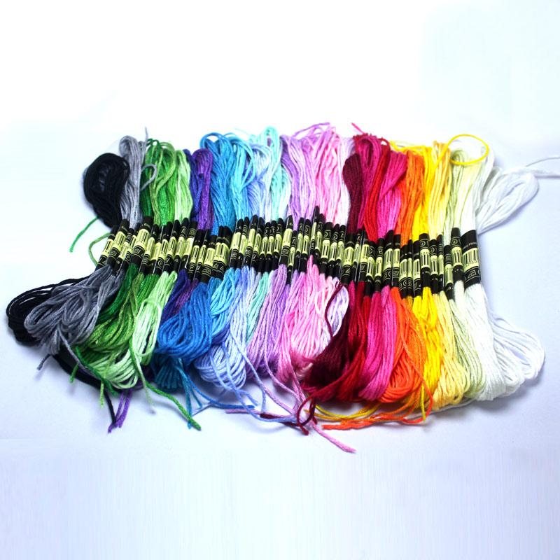 4 Meters 50 Piecse  Cross Stitch Threads DIY Braided Wire  Floss Skein Embroidery  Thread  Weave Bracelets Thread