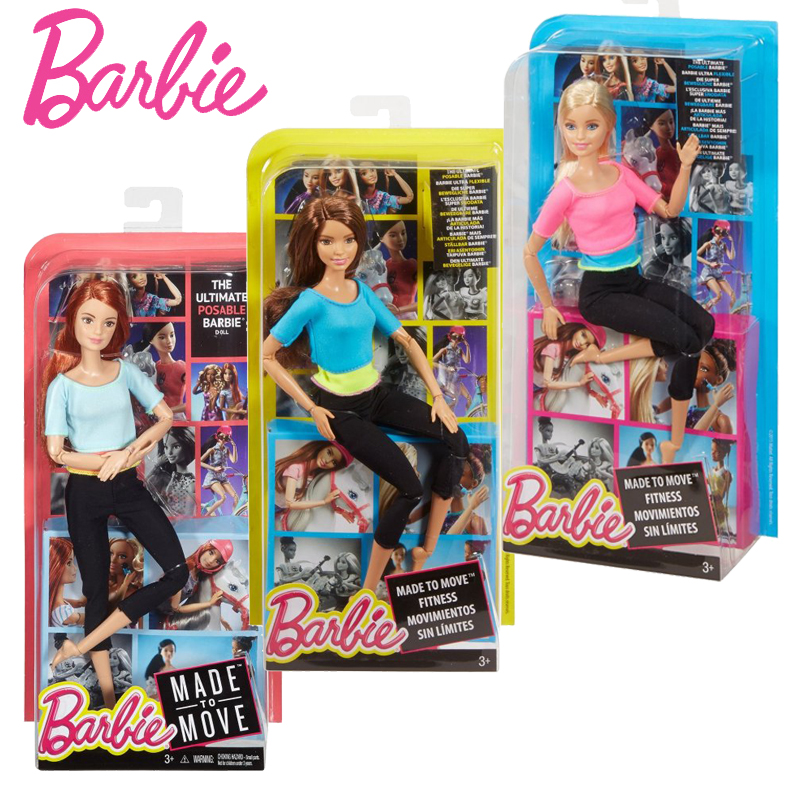 Original Barbie Doll Movement Style Joints Movable Yoga Fashion Barbie Girl Toy Accessories Birthday New Year Gift For Girl 1piece free shipping christmas gift girl birthday gift toy original 11joint doll doll accessories for barbie doll