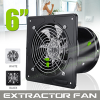 Ducted Exhaust Fan 220V 6 Inch Ceiling Window Booster Fan Bath Bathroom Ventilation Pipe Fan Exhaust Kitchen Fan Air Cooler Vent