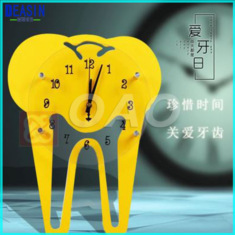 Dental colock for Clinic dental wall clock dental decorations crafts dentist gift dentist gift resin crafts toys dental artware teeth handicraft dental clinic decoration furnishing articles creative sculpture