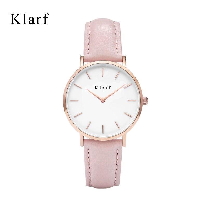 Элитный бренд klarf Relogio feminino часы Для женщин часы Часы из нержавейки Дамская мода Повседневное часы 40 мм кварцевые наручные часы