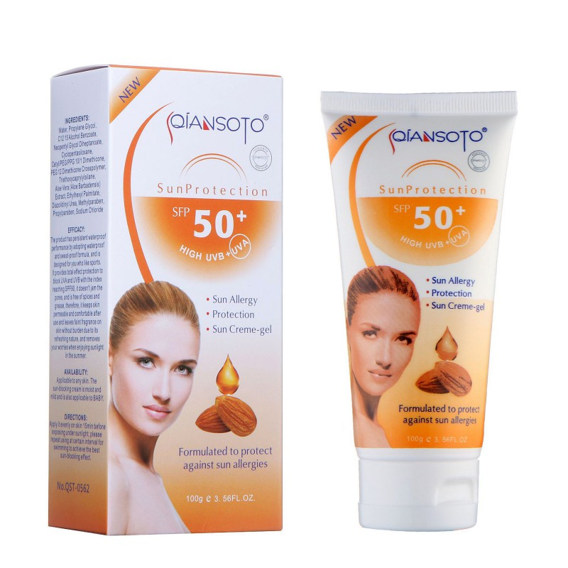 1pcs Facial Face Body Sunscreen Cream Concealer Sunscreen Creams Sun Lotion Oil SPF 50 Isolation UV Sunblock