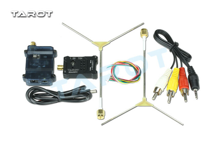 Tarot TL300N5 1.2G 600MW AV Wireless Wiring Transmitter Receiver TX RX Kit with 1.2G Antenna for FPV F18657 цена